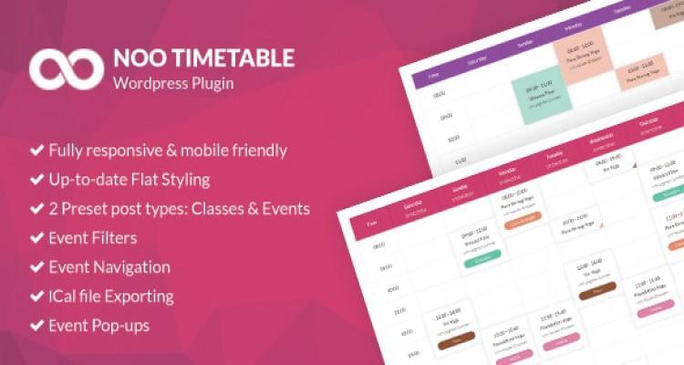 Noo Timetable v2.0.4.5 - Responsive Calendar & Auto Sync