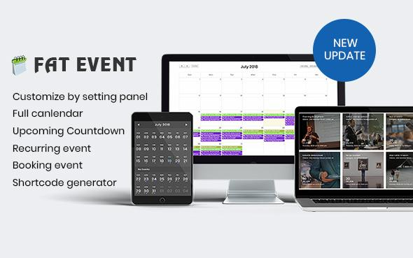 FAT Event v1.5.4 - WordPress Event and Calendar Booking