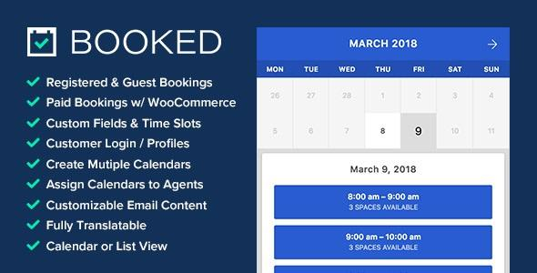 Booked v2.2 - Appointment Booking for WordPress