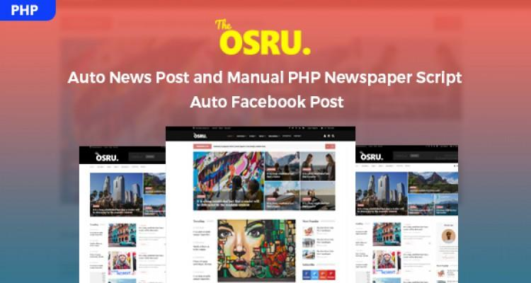 Osru - Auto News Post and Manual PHP Newspaper Script | Auto Facebook Post
