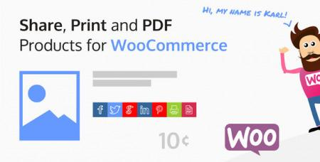 Share, Print and PDF Products for WooCommerce v2.2.1