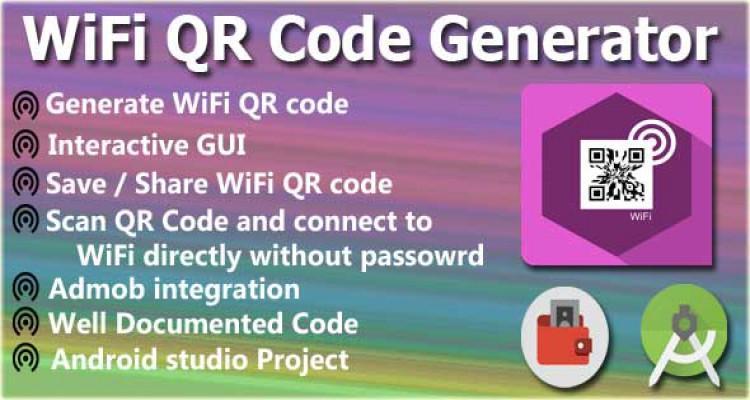 WiFi QR Code Generator & Scanner +Android Studio +AdMob