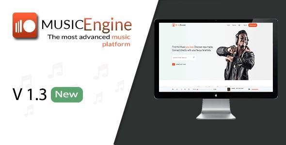 MusicEngine v1.3.1 - Social Music Sharing Platform
