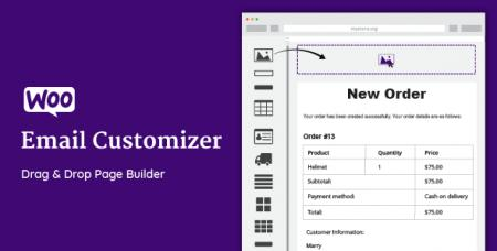 WooCommerce Email Customizer with Drag and Drop v1.5.2