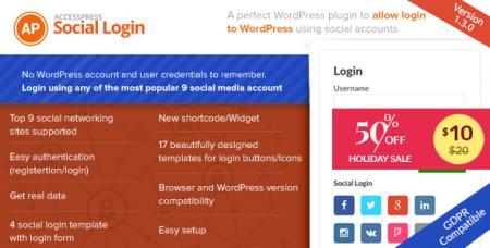 AccessPress Social Login v1.3.5