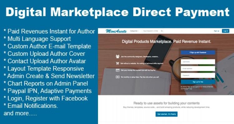Digital Products Marketplace Direct Payment
