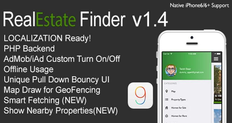 RealEstate Finder Full iOS Application v1.4