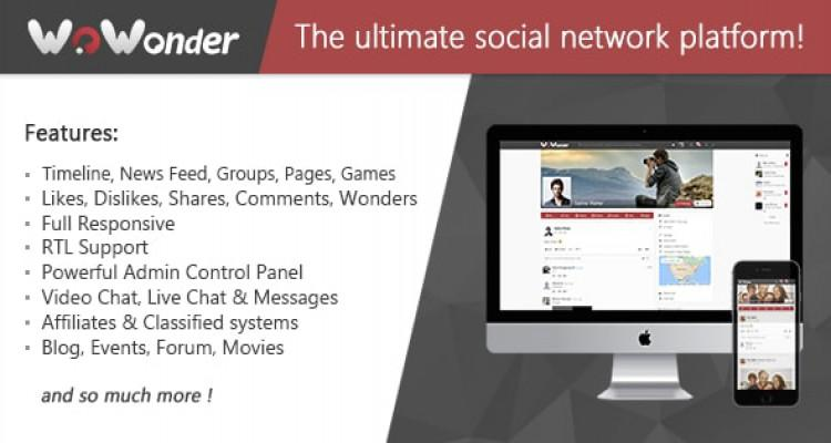 WoWonder - The Ultimate PHP Social Network Platform v1.5.1 (updated)
