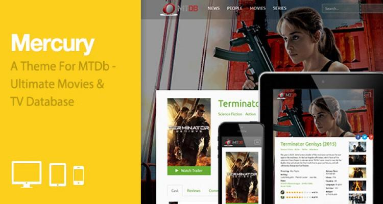 MTDb - Ultimate Movie&TV Database 2.9.1 + Mercury Theme + Plugin Streaming