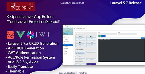 Redprint v1.6.32 - Laravel App Builder CRUD Generator Plus - nulled