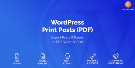 WordPress Print Posts & Pages (PDF) v1.1.5
