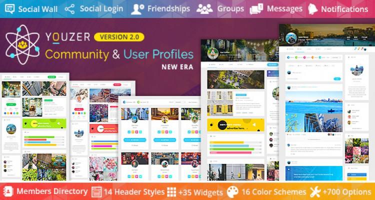 Youzer v2.0.6 - Buddypress Community & User Profiles