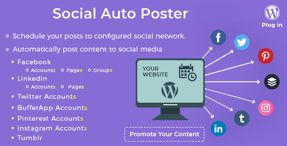Social Auto Poster v2.8.7 - WordPress Plugin