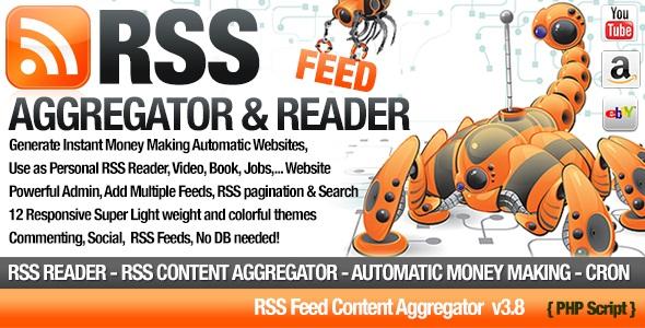 RSS Aggregator v3.8 - Niche Content RSS Site Builder