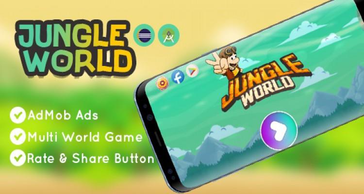 Jungle World Game - Eclipse & Android Studio - AdMob Ads