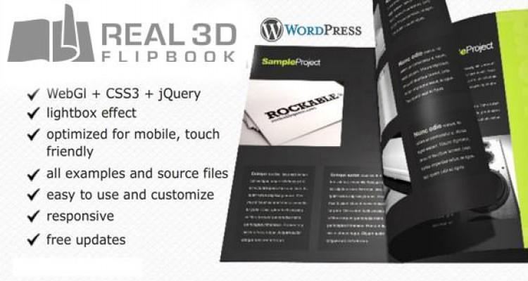 Real3D FlipBook v3.4.4 - WordPress Plugin