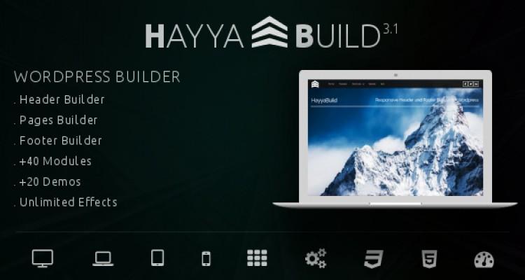 HayyaBuild v3.1 - WordPress Header, Footer and Page Builder