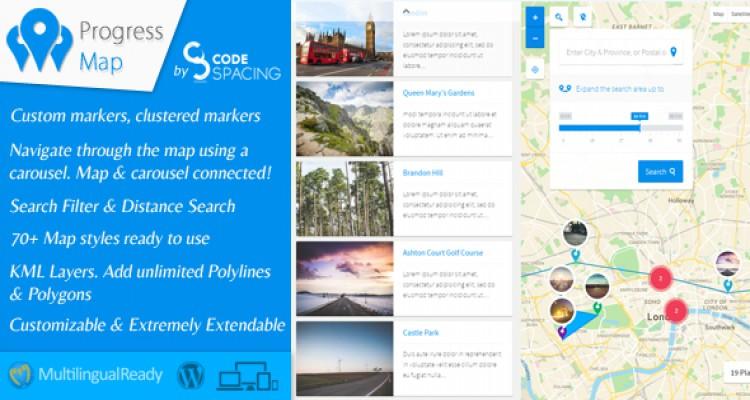 Progress Map Wordpress Plugin v3.7.1
