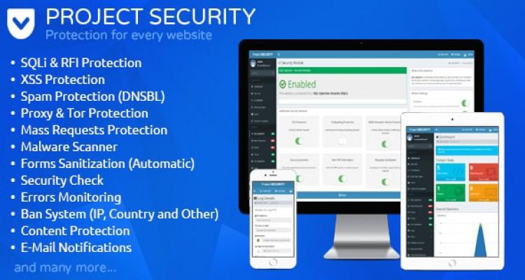 Project SECURITY – Website Security, Antivirus & Firewall 15.0