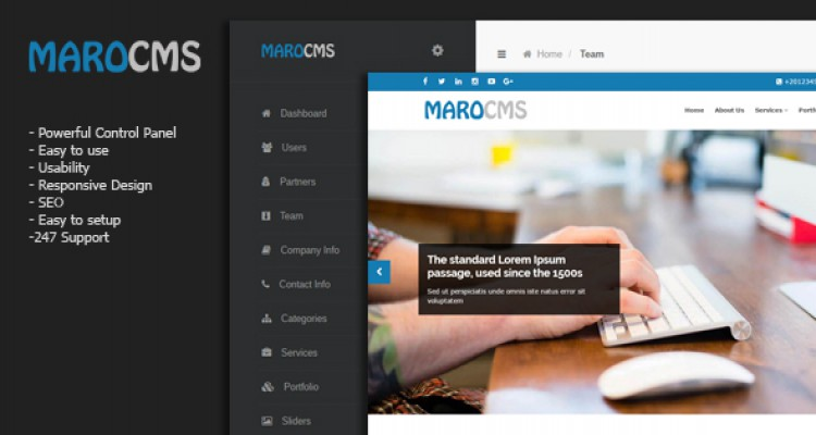 MaroCMS v2.0 - Business CMS