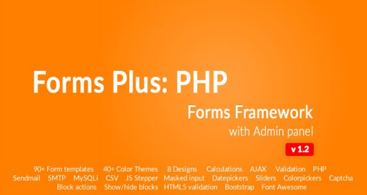 Form Framework with Admin Panel - Forms Plus: PHP v1.2.1