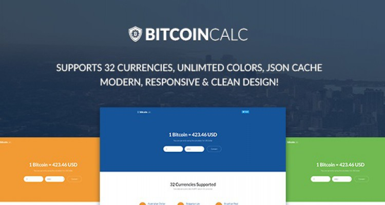 Bitcoin Calculator - Supports 32 Currencies
