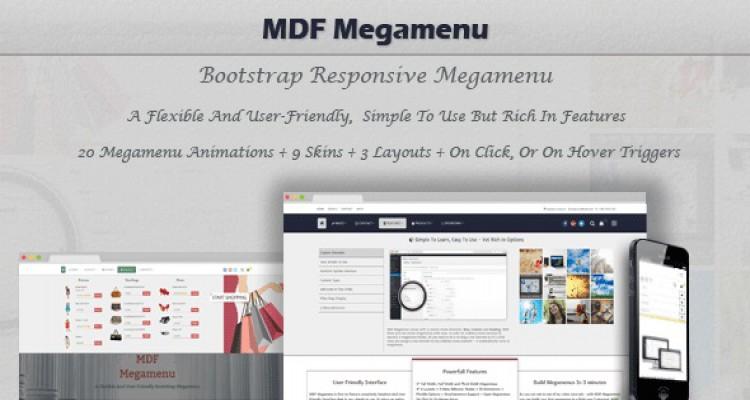 MDF Megamenu v1.1.6 - Bootstrap Responsive Megamenu