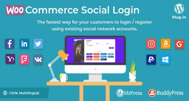 WooCommerce Social Login v1.7.1 - WordPress plugin