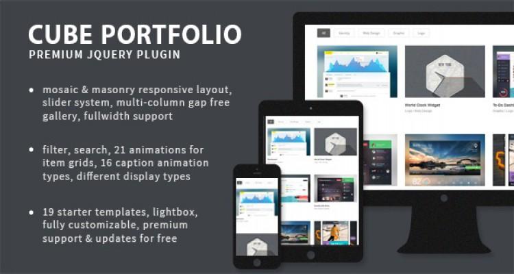 Cube Portfolio v4.0 - Responsive jQuery Grid Plugin