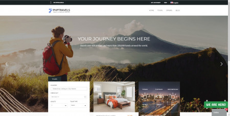 Phptravels Webscript Awesome Tours Theme V7.0