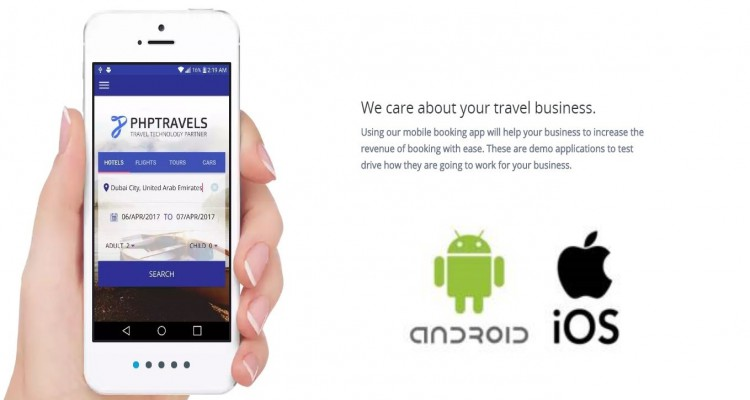 Phptravels Android And Ios Hybrid App