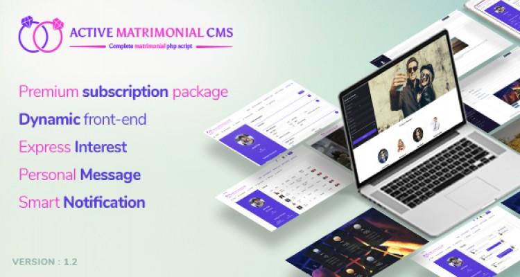 Active Matrimonial CMS v1.0.0